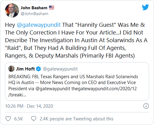 White House Splits Over Special Counsel, Martial Law Amid Aftermath Of SolarWinds Breach Image-537