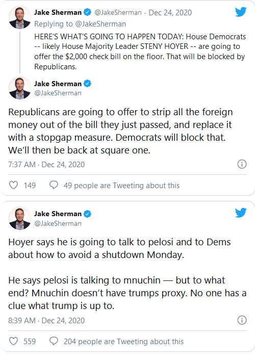 Shutdown Looms As Democrat Bid For $2,000 Relief Checks Fails House, Here's What Happens Next Image-672