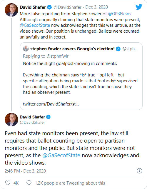 Georgia Secretary of State Partially Bends The Knee, Acknowledges 'Ballots Were Counted Unlawfully And In Secret' Image-78