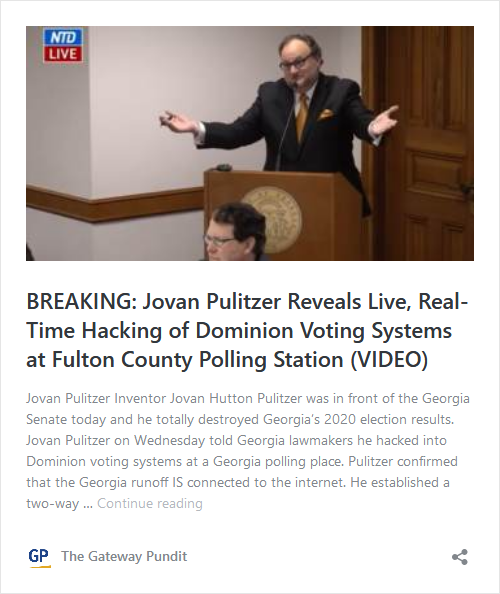 Jovan Pulitzer says Georgia Called in Trucks to Get Rid of the Evidence in Fulton County He is Supposed to be Scanning! Image-13