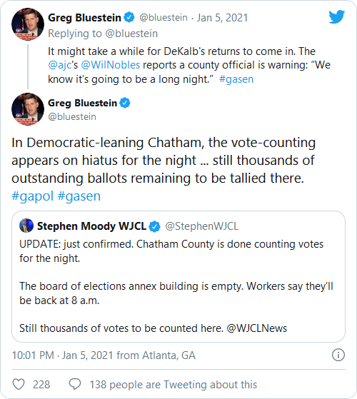 Breaking: As GOP Pulls Ahead in Georgia Senate Races, Democrat County Stops Counting Votes for the Night More Election Fraud!! Image-164