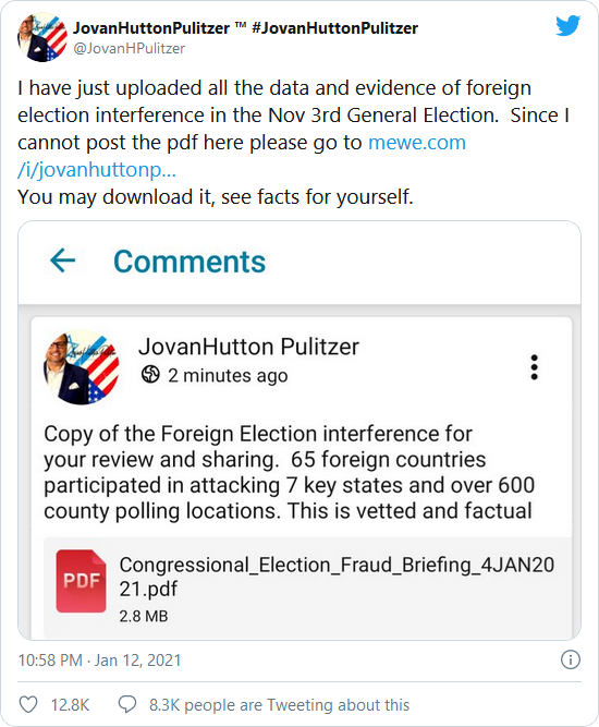 HUGE: Jovan Pulitzer Releases Report — Confirms Numerous Countries Interfered In the 2020 Election – Millions of Invalid Ballots Inserted Into the Election Image-458