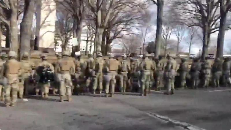 Report: National Guard Turned Backs on Biden Motorcade Image-634