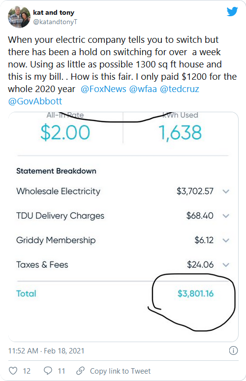 "Outages Morph Into Outrage As Texans Slapped With ""Mind-Blowing"" Power Bills $9000 Image-485"