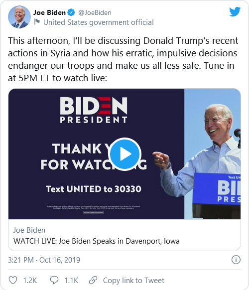 Biden, Psaki, And Harris Under Fire For Past Tweets Criticizing Trump's Military Actions Following New Syria Airstrikes Image-705