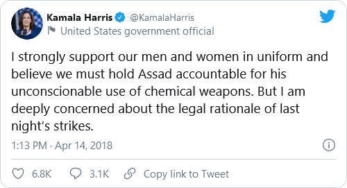 Biden, Psaki, And Harris Under Fire For Past Tweets Criticizing Trump's Military Actions Following New Syria Airstrikes Image-707