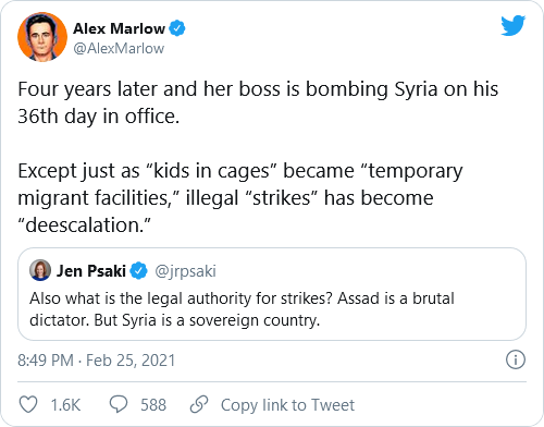 Biden, Psaki, And Harris Under Fire For Past Tweets Criticizing Trump's Military Actions Following New Syria Airstrikes Image-710