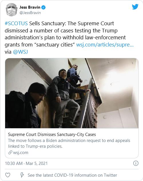 Supreme Court Sides With Biden, Dismisses Trump Administration's Pending 'Sanctuary City' Cases Image-135