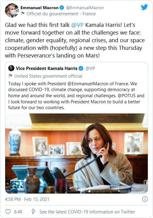 Who Is The President? Kamala Harris Takes ANOTHER Call With A Foreign Leader Image-238
