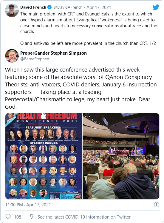 #QTard Drama Theater- 'Q Is the Truth,': Lin Wood Promotes QAnon at Bible College to Cheering Crowds Image-1023