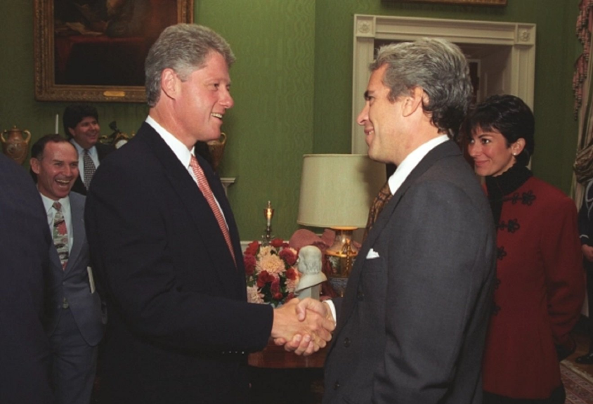 Never Before Seen Photos Reveal Jeffrey Epstein and Ghislaine Maxwell Were VIP Guests in Bill Clinton's White House