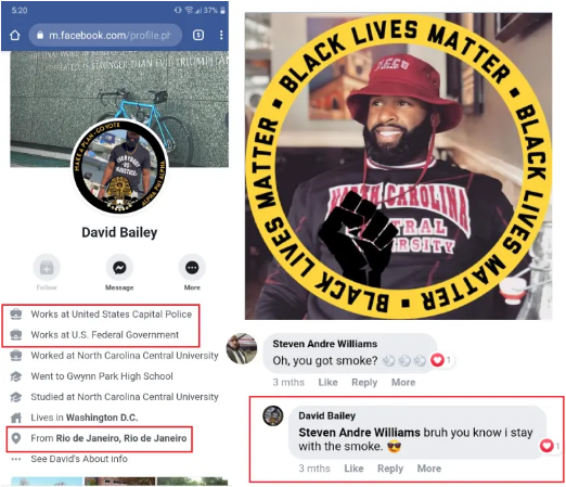 US Capitol Special Agent David Bailey Who Murdered Ashli Babbitt is a Brazilian Immigrant and Black Lives Matter Militant — HE REPEATEDLY THREATENED TO KILL TRUMP SUPPORTERS ON FACEBOOK FOR MONTHS!