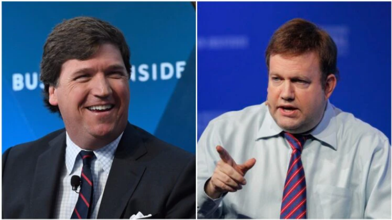 Tucker Carlson Exposes Republican Pollster Frank Luntz as Oxycontin Shill and Liberal Hack
