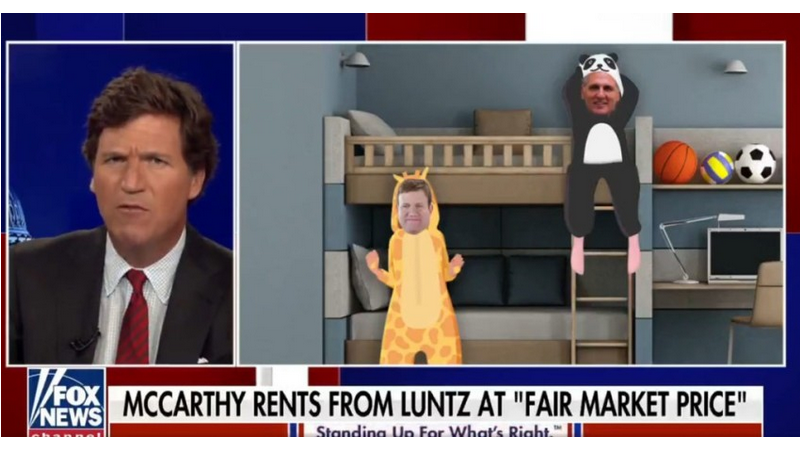 Tucker Reveals Kevin McCarthy Secretly Lives In Apartment With Frank Luntz