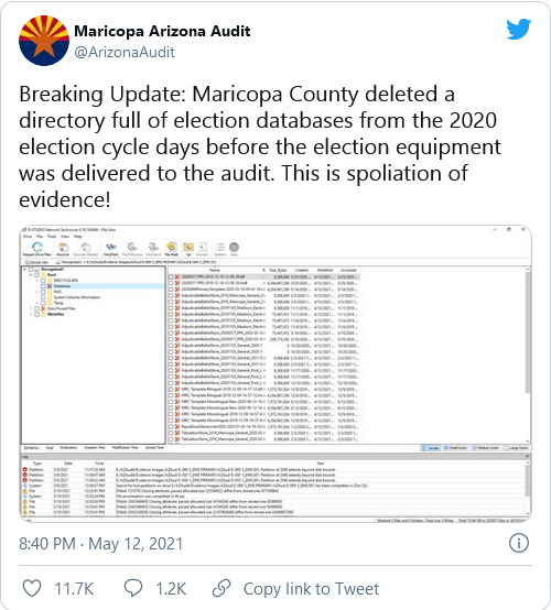 Maricopa County Elections Officials DELETED ENTIRE DATABASE from Voting Machines  Image-740