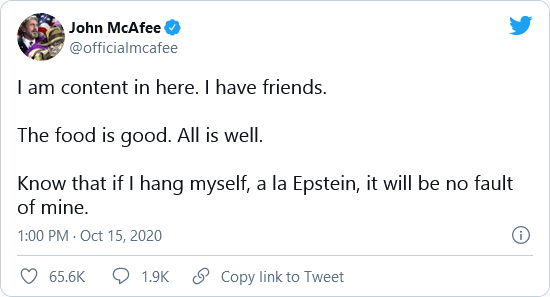 'Q' Clue Posted to John McAfee's Instagram Hours AFTER His Death Image-1084