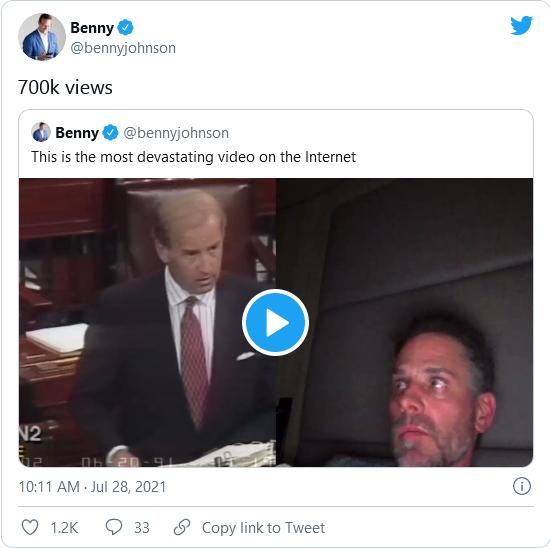 VIRAL VIDEO Shows Split Screen of Hunter Biden Smoking a Crack Pipe and Joe Biden Bragging About Severe Punishment for Drug Crimes Image-1997