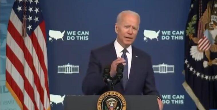Biden: We're Sending People 'Door-to-Door, Literally Knocking on Doors' to Check Americans for Vaccinations Image-362