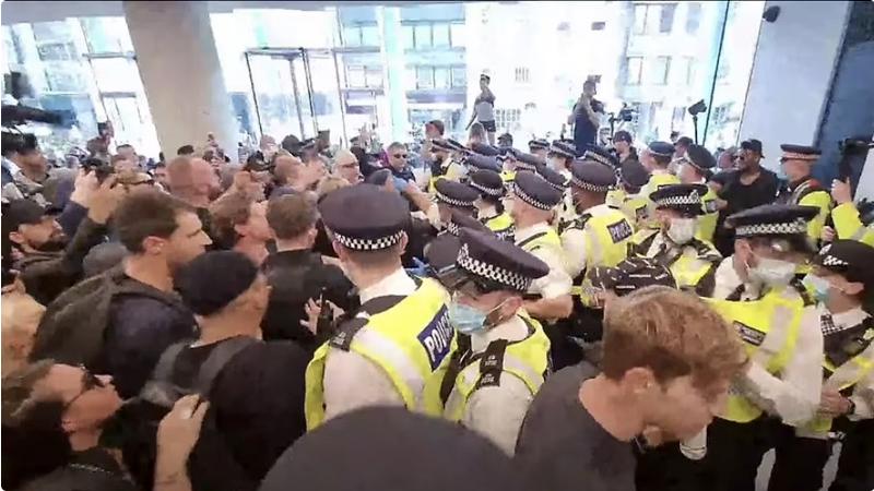 Watch: UK Covid Vaccine Protestors Storm TV Studio Headquarters Image-1504