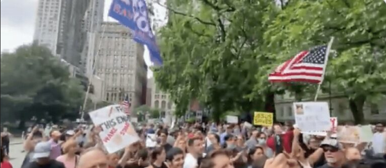 """Hundreds Gather to Defy NYC Covid Mandates…""""We will not comply!"""" about time! but only 100's?  Image-520"""
