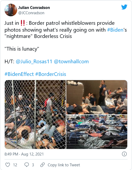 """Fed-Up Border Patrol Agents Document """"Horrifying"""" Conditions in Biden's Migrant Facilities Image-708"""