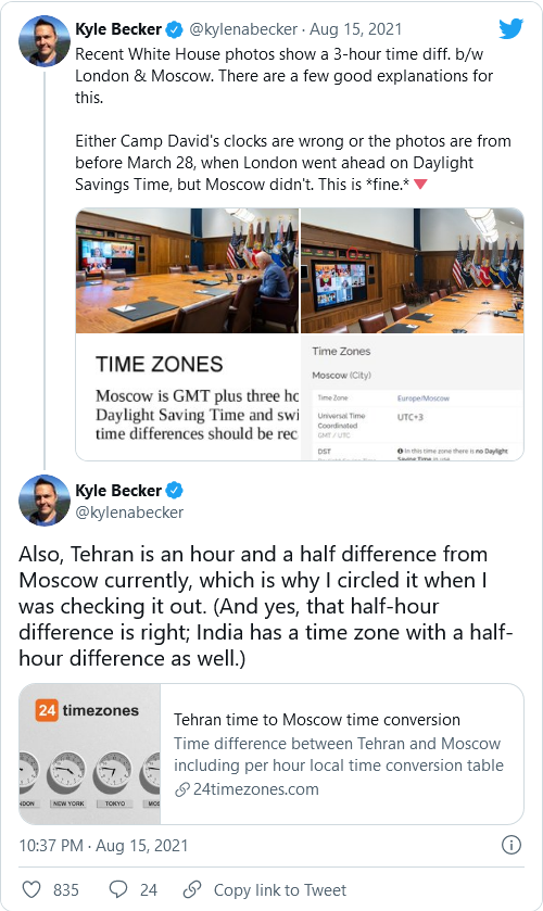 HOLY SHIT! A Reporter Actually Notices Something! Serious Discrepancies With Clocks in Biden's Camp David Photo Image-973