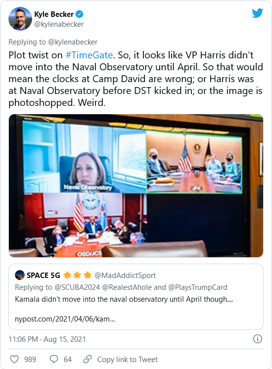 HOLY SHIT! A Reporter Actually Notices Something! Serious Discrepancies With Clocks in Biden's Camp David Photo Image-975