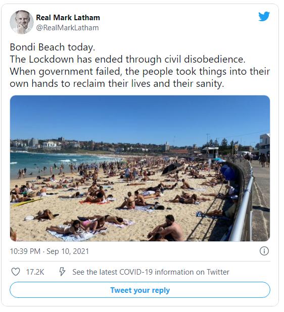 AUSSIES Are Now Ignoring Tyrannical Public 'Health' Mandates – Heading to Beautiful Bondi Beach Image-1242