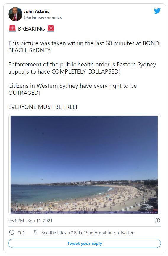 AUSSIES Are Now Ignoring Tyrannical Public 'Health' Mandates – Heading to Beautiful Bondi Beach Image-1243