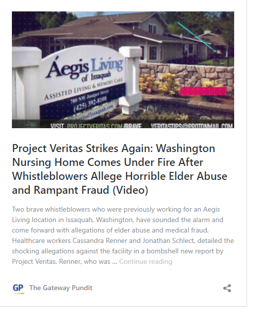 Project Veritas Whistleblower: Washington Nursing Home Patient Dies After Being Given a 'Chemical Restraint'  Image-1298