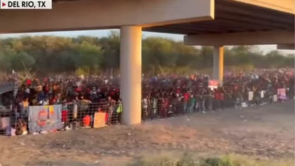"""""""Crazy""""… New Drone Footage of Thousands of Illegals at America's Border Image-1454"""