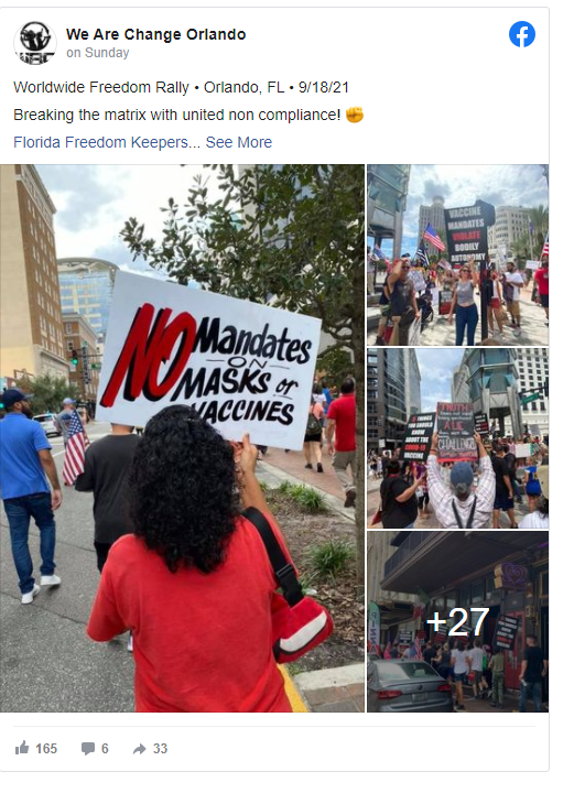Hundreds March Against Vaxx Mandates In Orlando, Supporting First Responders Image-1545