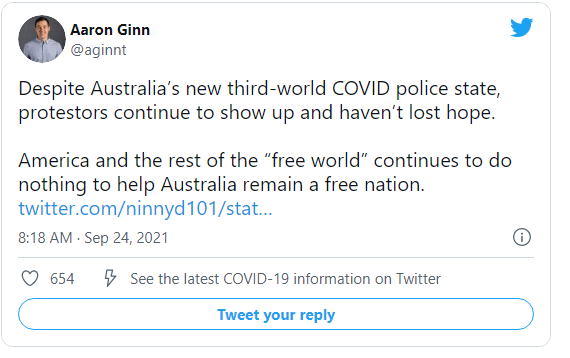 Despite Horrifying State Violence, Brave Australians Continue to Resist COVID Police State Image-1885