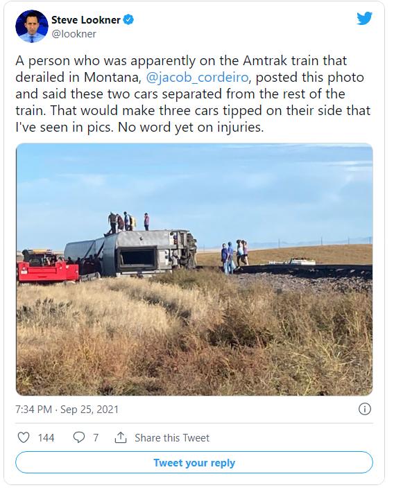 Amtrak train derailed in Montana Image-1942