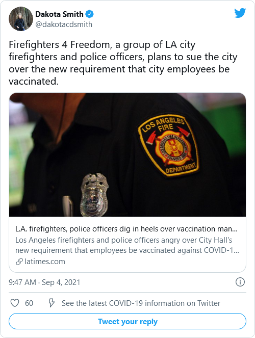 Police, Firefighters In LA Form Group To Resist Vaccine Mandates Image-594